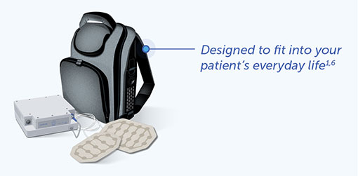 Optune Lua™ is designed to fit into your patient's everyday life