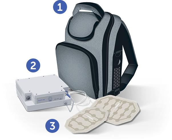 Device & battery carrying bag, device (electric field generator) & battery, transducer arrays