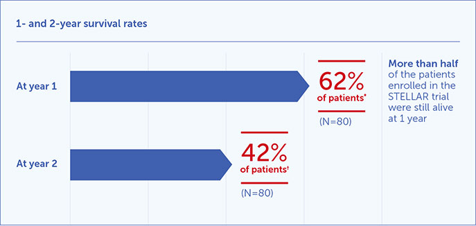 Learn more about 1 and 2 year survival rates for Optune Lua™ + chemo